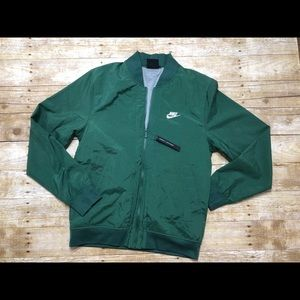 NWT Nike forest green windbreaker